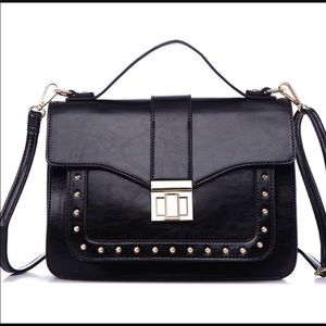NEW-Oralee structured crossbody bag in Black